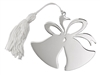 Double Bell Ornament w/ White Tassel