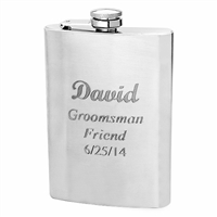 Matte Finish Silver Flask