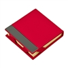 Red-leatherette-post-it-note-holder