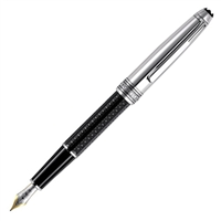 Montblanc Meisterstuck Solitaire Doue Signum Engraved Black Resin Classique Fountain Pen