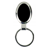 Black Oval Shaped Key Ring