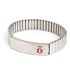 Men's Stainless Steel Medilog ID Bracelet with Compartment Plaque & Expansion Band