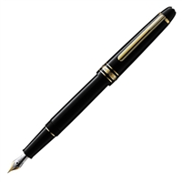 Montblanc Meisterstuck Classique Black Resin & Gold Fountain Pen