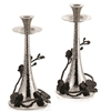 Black Orchid Candleholders