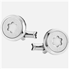 Montblanc Starwalker Cufflinks, round in stainless steel with illuminating emblem