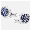 Montblanc round in stainless steel with lapis lazuli inlay Cufflinks