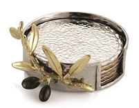 Olive Branch Gold Drink Coaster Set