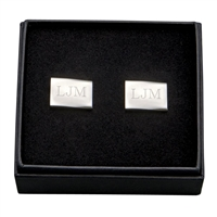 Pair of rectangle cuff links
