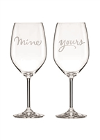Yours & Mine wine glasses