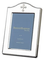 "Silver Abbey Cross Picture Frame 4"" x 6"""