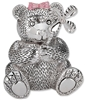 Girl Bear with Pinwheel Silverplate Bank