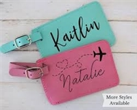 Leather Luggage Tags  (more colors available)
