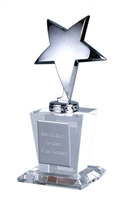 Silver Star Glass Trophy