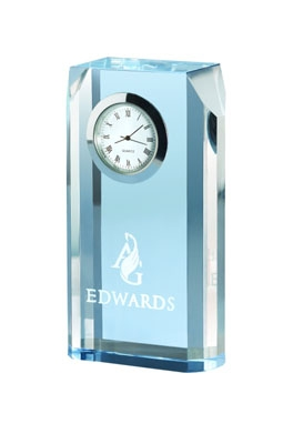 Blue Mist Opti-Crystal Clock