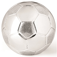 Silverplate Soccer Ball Bank