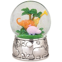 Jungle Parade Silverplate Musical Waterglobe Jungle Parade Silverplate Musical Waterglobe
