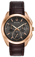 Mens Rose Gold Curv Chronograph