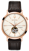 Mens Rose Gold Automatic Aerojet