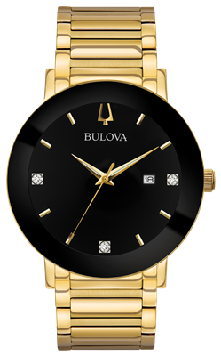 Mens Gold Diamond Futuro watch