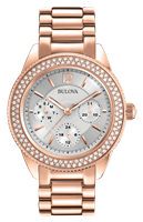 Women's Rose Gold  Crystal watch
