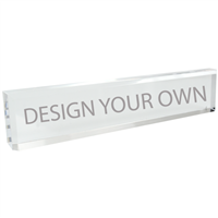 Clear Acrylic Desk Nameblock