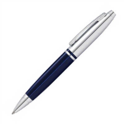 Calais Translucent Blue & Chrome Ballpoint