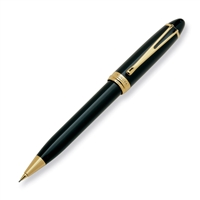 Aurora Ipsilon Deluxe Black w/ Gold Trim Pencil