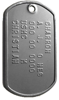 Stainless Steel Dog Tag with chain