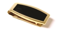 BRUSHED GOLDTONE & MATTE BLACK MONEY CLIP