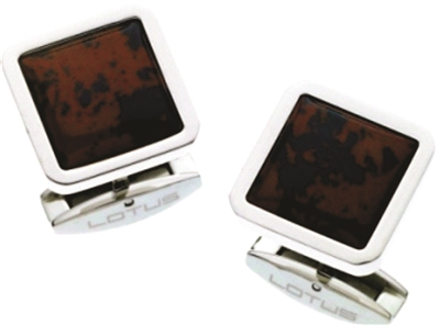 CUFF LINKS WITH MAHOGONY STONE