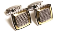 YELLOW AND WHITE CUFF LINKS