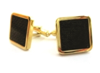 GOLDTONE SQUARE CUFFLINKS