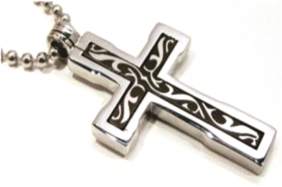 "CROSS PENDANT 24"" BALL CHAIN"