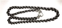 STAINLESS STEEL & LEATHER NECKLACE