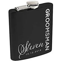 Matte Black Stainless Steel Flask
