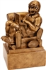 Antique Gold Fantasy Football Man in Chair