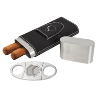 Cigar Case with Cutter in Vegan Leather