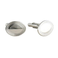 Oval Silver Cuff Links