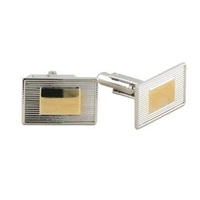 Two Tone Rectangular Cuff Links