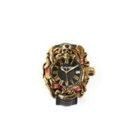 Chaos Automatic Watch, Gold & Enamel