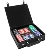 100 Chip Poker Set in a Vegan Leather Case