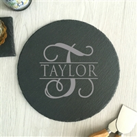 Personalized Slate Cheese Board Round