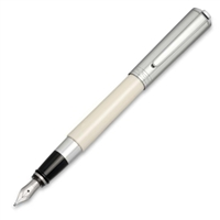 Aurora Ivory Resin w/ Chrome Cap Fountain Pen