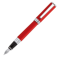 Aurora Red Resin w/ Chrome Trim Fountain Pen