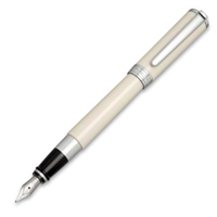 Aurora Ivory Resin w/ Chrome Trim Fountain Pen