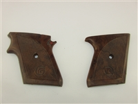 RG 26 Grips, Pair, Brown Checkered Plastic