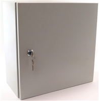 YuCo YC-12X8X6-UL-FE-EL-2-KF Fully Enclosed NEMA 4 Enclosure with Lock and Keys