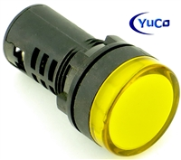 YuCo YC-22Y-3 EUROPEAN STANDARD TUV CE LISTED 22MM LED PANEL MOUNT INDICATOR LAMP YELLOW 220/240V AC