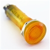 PACK OF 10 YuCo YC-9TRL-5A-12-10 AMBER LED 9MM 12V AC/DC