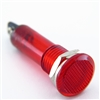 PACK OF 10 YuCo YC-9TRL-5R-24-10 RED LED 9MM 24V AC/DC